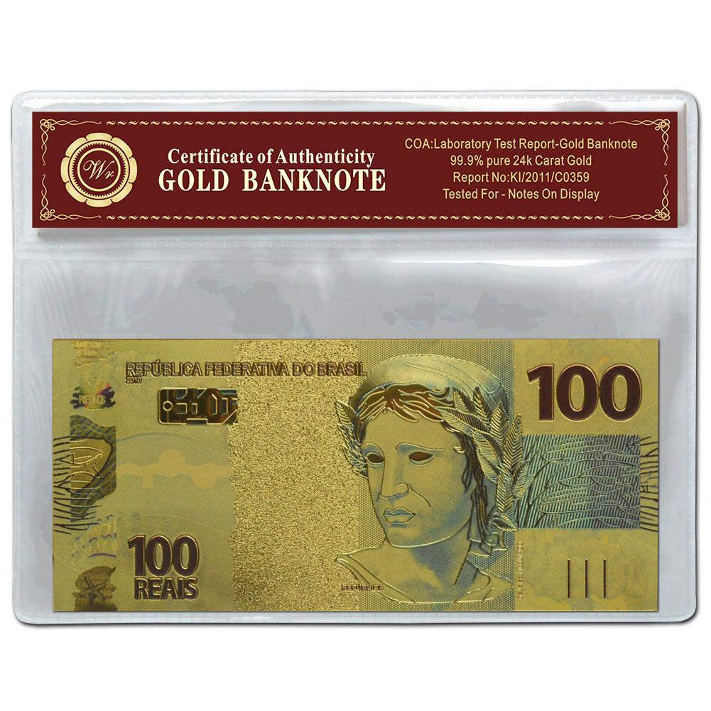 LEBANON 100000 100,000 LIVRES 24K GOLD BANKNOTE BILL