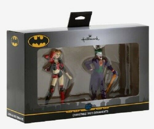 Primary image for 2019 Dc Comics Hallmark Harley Quinn & The Joker Christmas Ornaments Brand New