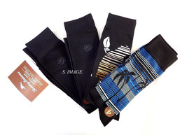 TOMMY BAHAMA Men's CASUAL CREW Socks 4 Pairs Black OSFM - New! - $19.95