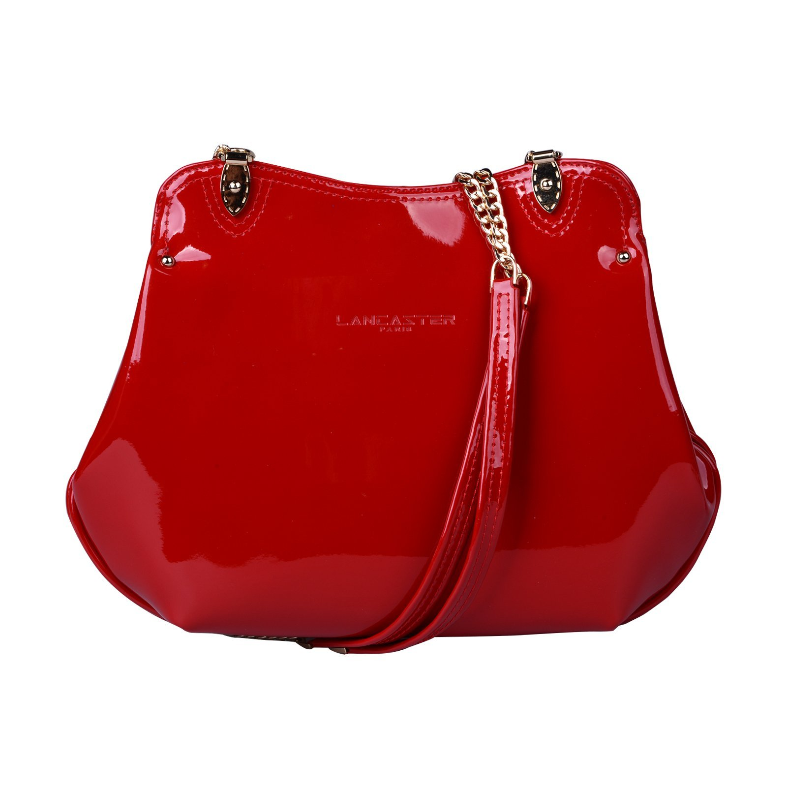 Lancaster 524-53 Ines Verni Patent Leather Crossbody RED