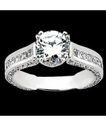2 ct. diamonds ring gold white jewelry channel ... - $3,378.87