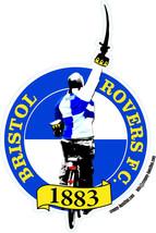 Bristol Rovers commemorative Gashead shaped vinyl sticker 100mmx150mm pr... - $4.88+