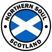 Northern Soul Scotland self cling window sticker 90mm Wigan Casino Mod - $3.76