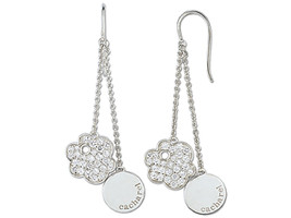 Earrings Cacharel Flower with Stones (CSW226Z), Sterling Silver 0,925 - $59.40
