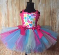Valentines Day Tutu Dress, Conversation Candy Hearts - $40.00+