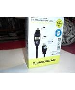 2 in  1  micro/mini  hdmi  cable   scosche - $0.99