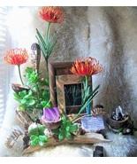 Driftwood Arrangement & Picture Frame Set Unique Floral + Succulent Desk... - $209.00