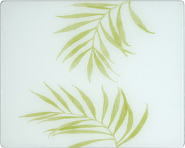 Corelle 15 X 12 Bamboo Leaves Counter Saver Tmpered Glass Cutting Board 91512BLH - $32.99