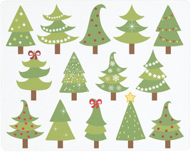 Vance 15 X 12 Festive Holiday Trees Surface Saver Tempered Glass Cutting... - $29.99
