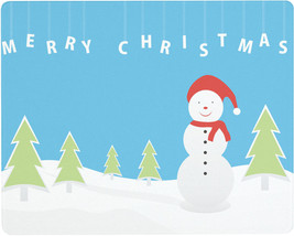 Vance 15 X 12 Blue Christmas Snowman Surface Saver Tempered Glass Cuttin... - $29.99