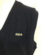 Cutter & Buck Dark Navy Vest RCA Cable Knit New With Tags Men's XL image 2