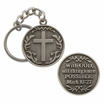 With God All Things Are Possible Keychain Key H... - $7.90