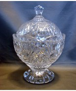 Shannon Crystal by Godinger Covered Candy Bowl Dish and Lid Footed Glass... - $36.00