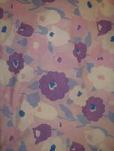 Vintage Marlboro Muslin Purple flowers pillowcase standard size - $13.89
