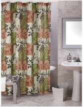 Carnation Laura Shower Curtain Earth Tones Brown Green Leaves Nature Pin... - $11.88