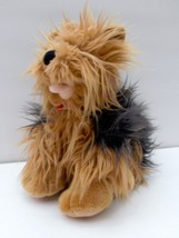 BABW Build A Bear Plush Yorkie Yorkshire Terrier Brown Black Cuddly Pupp... - $16.10