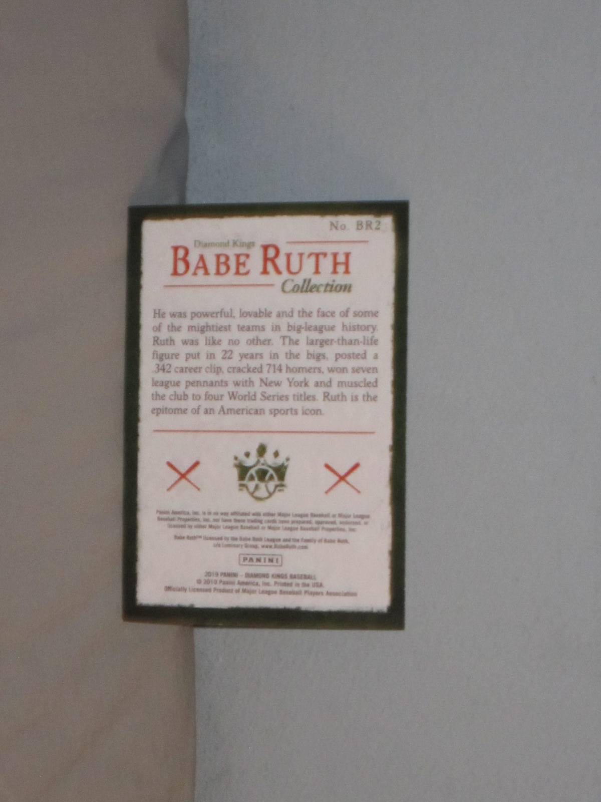 2019 Panini Diamond Kings Babe Ruth Collection NY Yankees
