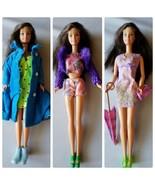 Vintage Muñeca Barbie Ropa Lote Variado 2 Atuendos Chaqueta Pantalones C... - $24.96