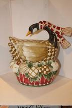 Sakura Debbie Mumm Cookie Jar - 12 Days Of Christmas Goose Eggs - EUC - $27.95