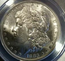 1883 O  Morgan Silver Dollar US Mint 1$Coin ANACS MS 62 frosty - $78.39