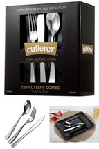 120 Pcs Disposable Cutlery Silverware Set Heavy Duty Plastic Microwave O... - $26.32 CAD