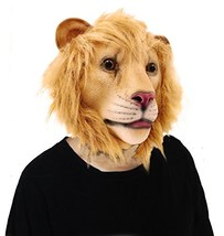 Lubber Lion Animal Head Mask for Halloween Costume Party - $18.89