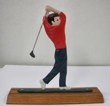 Whitehall Metal Country Golfer Bell Mailbox Topper Desk Card Holder Alum... - $29.95