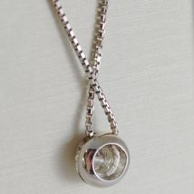 18K WHITE GOLD NECKLACE WITH DIAMOND 0.31 CARATS, VENETIAN CHAIN MADE IN ITALY image 3