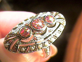 VINTAGE FILIGREE OPAL RING ESTATE PEARL OLD small 6.5 DELICATE STERLING 925 - $69.95