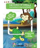 THE WORLD OF ANIMALS. Coloring Book in Augmented Reality. - £8.87 GBP