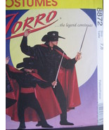 McCalls 8872  Boys 7 to  8 Costume Zorro Pattern Cape Shirt  - $9.95