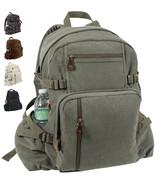 Vintage Canvas Large Knapsack, Large Bag Big Pack Backpack School Work T... - $34.99