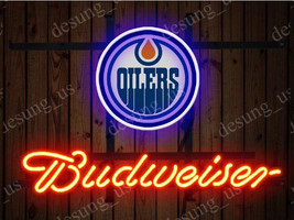 "New Budweiser Edmonton Oilers Beer Neon Sign 19""x15"" Ship From USA - $116.88"