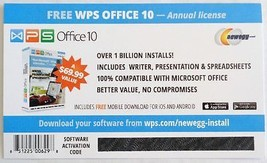 WPS Office 10 - 1 PC / 1 Year - Office Word,Spreadsheet and Presentation... - $6.79