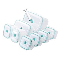 Honey-Can-Do Vac 'n Save 17-Piece Rectangular Set in Opaque/Teal - $49.99