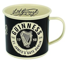 Guinness Enamel Mug With St' James Gate Label Cream Design - $11.42