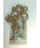 Our Lady of Lourdes Rosary Olive wood Jerusalem Virgen Lourdes Rosario d... - $13.86