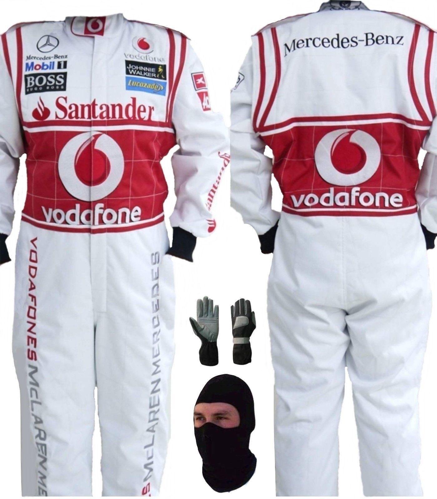 GO KART VODAFONE MCLAREN RACE SUIT CIK/FIA LEVEL 2 2013 WITH FREE GIFTS