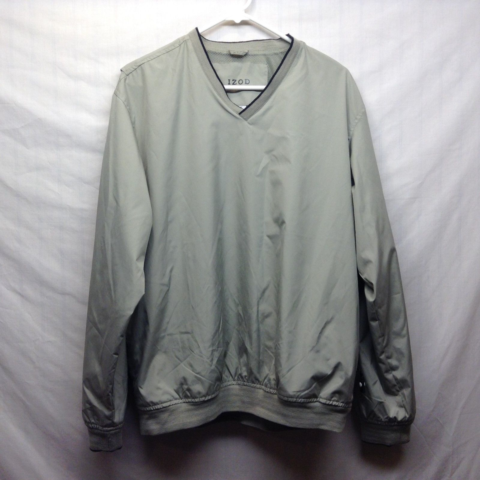 IZOD Light Green V Neck Pullover Golf Jacket Sz M