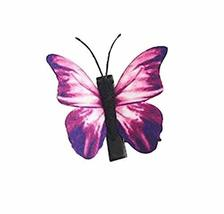 Set of 3 Butterfly Hair Pin Fashion Hair Clip Creative Hairpin,1.97'',Purple