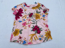 Toddler Old Navy Girls Tee Shirt Pink Floral Print Baby - $9.98