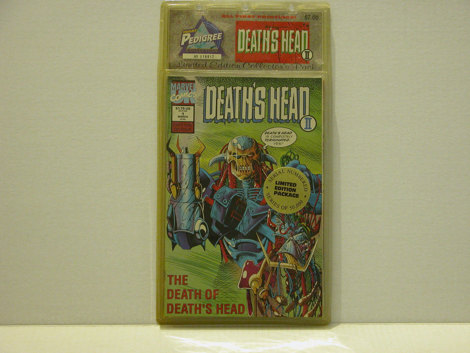 DEATH'S HEAD 4 PACK COMIC SET - SEALED - BLISTER PACK - FREE SHIPPING