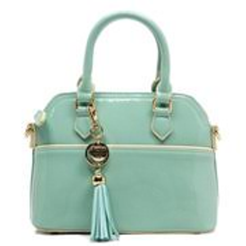 Fiore Mint Patent Leather Tassel Mini Satchel/Crossbody Bag - FINAL MARKDOWN!!!