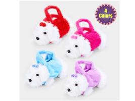 Kids Adjustable Strap Furry Fluffy Mini Puppy Doll Crossbody Bag - $14.95