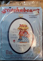 "©1987 Dimensions Stitchabears Counted Cross Stitch # 7639 ""My Tastes Are... - $8.90"