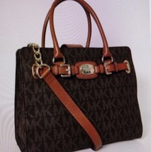 Michael Kors Signature Large Brown Hamilton PVC EW Tote Bag Reg 428 New - $197.01