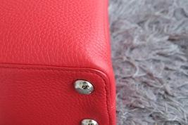 100% Authentic Louis Vuitton CAPUCINES MM Bag Red Taurillon Python image 5