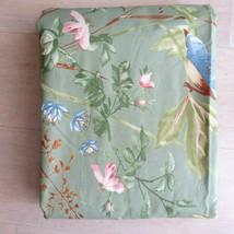 New Pottery Barn Duvet Cover Green Bird Floral Organic Cotton KING Disco... - $147.46