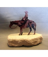 Lazart Cowboy  Sculpture ~ Metal Embedded in Sandstone - $5.99