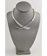 80s VINTAGE MONET Jewelry MODERNIST RETRO SILVE... - £42.48 GBP